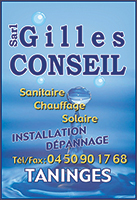 Gilles Conseil Sarl - sanitaire chauffage solaire vmc geothermie